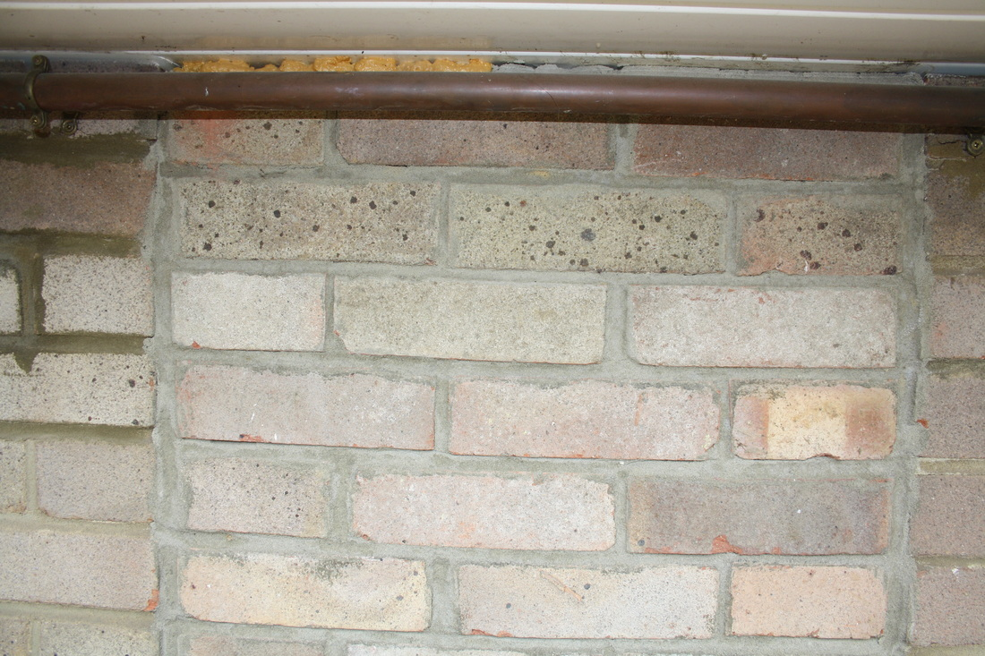 A close up view of unsightly brickwork by AB Conservatories Ltd. A review of AB Conservatories Ltd work.